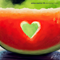 Water Melon - Digital Fruits 1 by anime-master-96