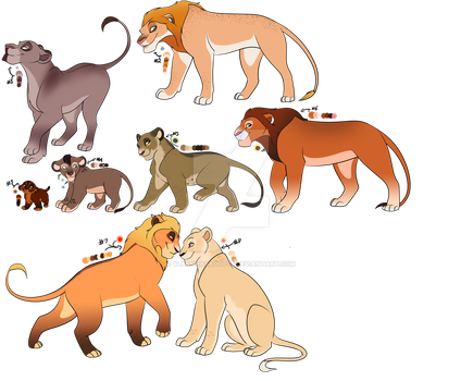 Mystery Lion Adopts - REVEALED! by YllannasAdopts