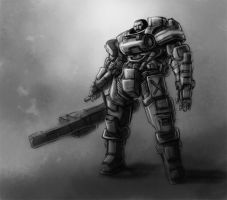 Halo:Reach Jorge-052 by PioPauloSantana