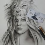 Lion and Girl wip by Zindy