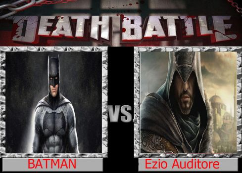 Batman Vs Ezio Auditore.Death Battle. by peligronico
