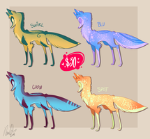 Wolf Design Adoptables by VivzMind