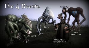 The Four Beasts of Spore by Cryptdidical