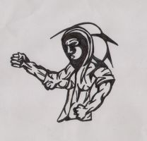 Hooded Martial Artist by Bodhi-The-Wicked