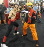 Johnny Cage and Naruto by R-Legend