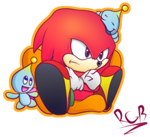 Knuckles CHAOtix by MisterRgbPixels