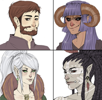 Dungeons and Dragons Portraits by Android-Bones