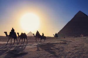 After a day of work at the pyramids. by 8moments