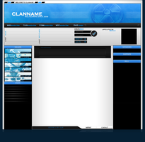 Blue ClanTemplate by xSc4Rx