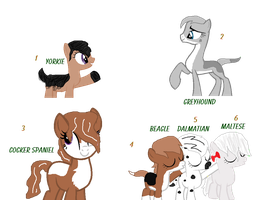 Dognies Adoptables 2 by YukiTG