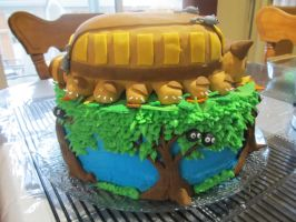 Totoro Cake Back View by Leara