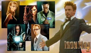 Iron Man 2 cast by agilebrit