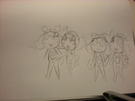 GROUP PIC PROJECT KERON Sketch by Squidey