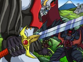 Mazinkaiser vs Mazindevil by LordGandulfo88