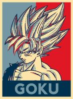 Poster SSJ GOKU - HOPE by hose1985
