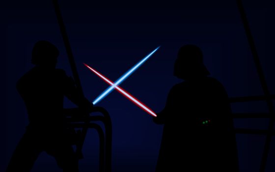 Luke Skywalker VS Darth Vader by Alex2424121