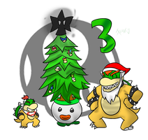 Smash Advent no. 3: Bowser and Jr. by Xero-J