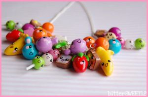 kawaii Friends Charm Necklace1 by bitterSWEETones
