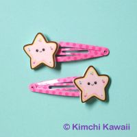 Star Cookie Hair Clips by kimchikawaii