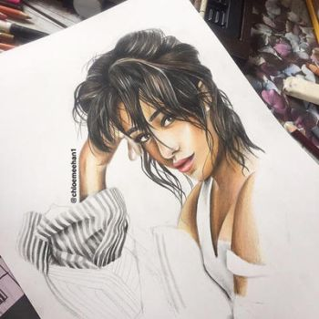 Camila Cabello drawing  by chloemeehan1