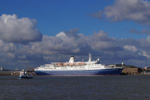 MV Marco Polo at Tilbury docks by Greattie