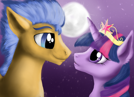 Flash Sentry and Twilight Sparkle by Vaileaa