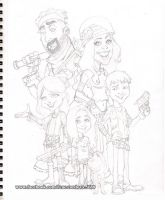 Family Caricature by renecordova