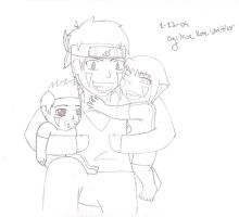 Daddy Kiba and the kids by chachi411