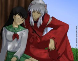Inuyasha - Resting by AquaWaters