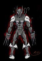 Symbiote Wolverine by The-Inferno-Symbiote