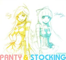 Panty and Stocking by hebi-mamecafe