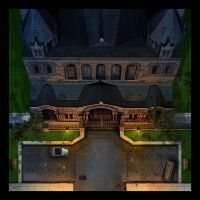 Church tile for boardgame by Erebus-art
