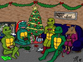 TMNT Secret Santa Gift Art by luckycyberbunny