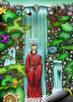 Inuyasha: Under the waterfall by Neocco