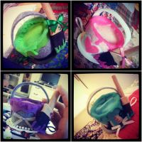 Mini Paint Can Hats by NoFlutter