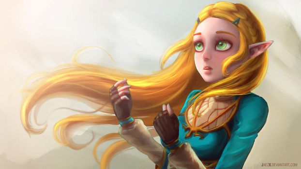 Zelda breath of the wild by JaezX