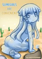 Slimegirls are convenient cover page by GreenTeaNeko