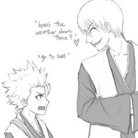 Lol, Toshiro and Gin by FuzzyShadowFoxx