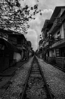 Hanoi Train Tracks by stinebamse
