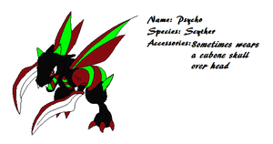 Pokemon OC Psycho the Scyther by Snow-Feather1203
