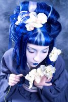 Blue Geisha II by Annie-Bertram