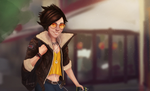 Casual Tracer - Overwatch by Iceey23