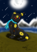 Luna the Sub-Umbreon by Threehorn