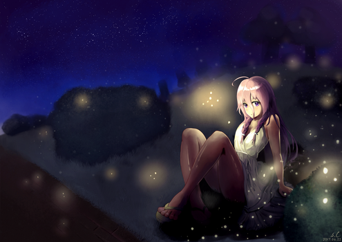IA on a Summer Night [Vocaloid] by s-Claw