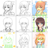 Switcharound Meme Miieru and Pencil-Doodles by musetrad