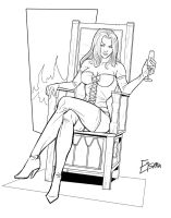Emma Frost Commission by Supajoe