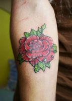 Another rose tattoo by Volski