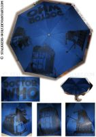 Doctor Who umbrella by Stalkkeri-wolf