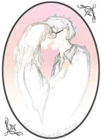 soft harry hermione kiss by innermurk