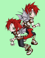 Demon Twins -color- by Merloc